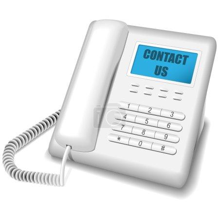 Modern white telephone.