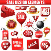 Vector set of sale design elements isolated on white background