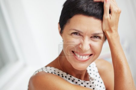 Photo for Portrait of beautiful middle aged woman - Royalty Free Image