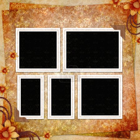 Retro background with decorative frame