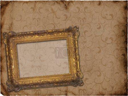 Retro background with decorative frame