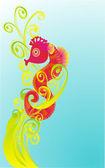Kreslený moře móda, vektorové ilustrace