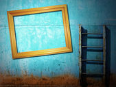 Blue rusty vintage background