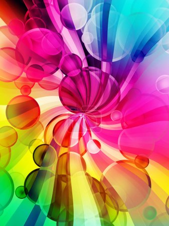 Photo for Modern disco abstract digital background - Royalty Free Image