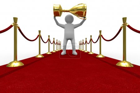Red carpet on white background