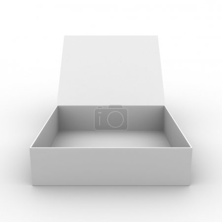 Open box on white background