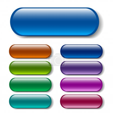 Illustration for Oblong buttons in various colors - Royalty Free Image