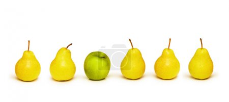 Photo for Stand out from crowd with apple and pears - Royalty Free Image