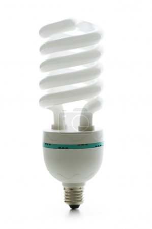 Energy saving lamp isolated