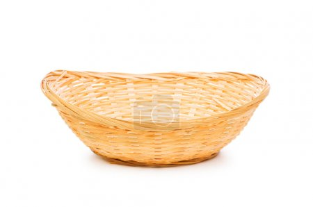 Woven basket isolated on the white background...