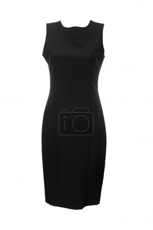 Black dress isolated on the white