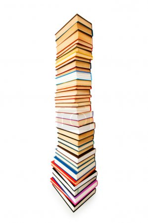Photo for Stack of books isolated on the white - Royalty Free Image