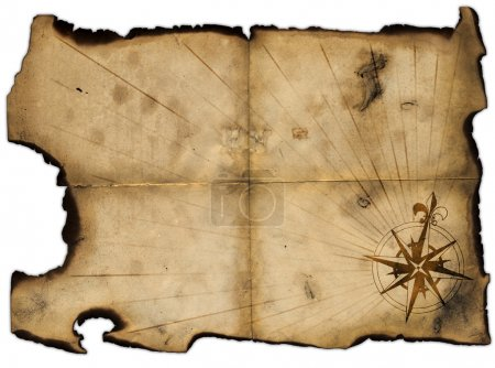 Old blank of pirates map for design...