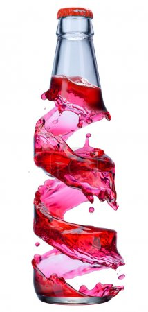Photo for Color bottle isolated on a white - Royalty Free Image