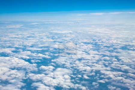Photo for Vista on clouds from the plane. - Royalty Free Image