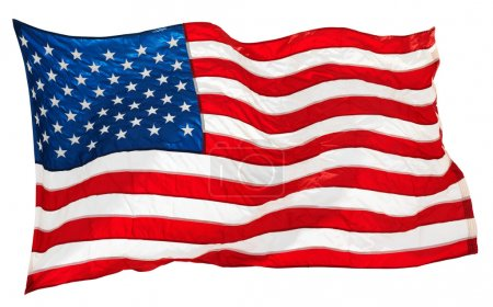 Photo for Flapping flag USA with wave - Royalty Free Image