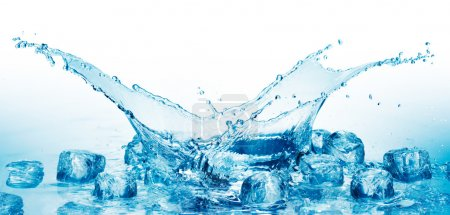 Photo for Close up view of the ice cubes in water - Royalty Free Image