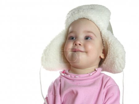 Baby with hat with earflaps
