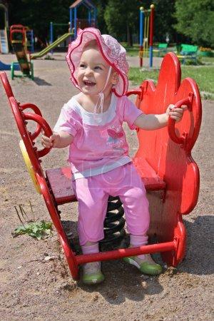 Baby in yard