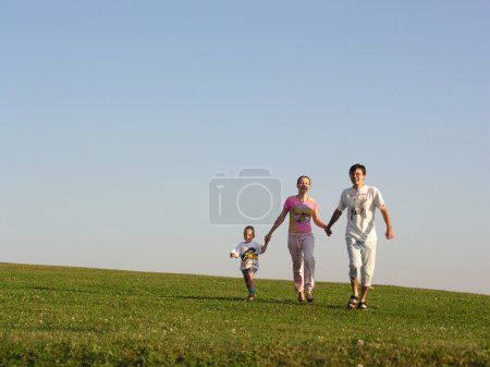 Photo for Running family - Royalty Free Image