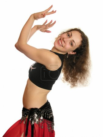 Photo pour Femme de danse du ventre - image libre de droit