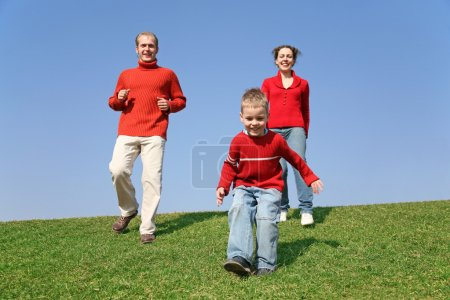 Running family with son 2