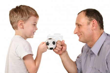 Grandson soccer ball