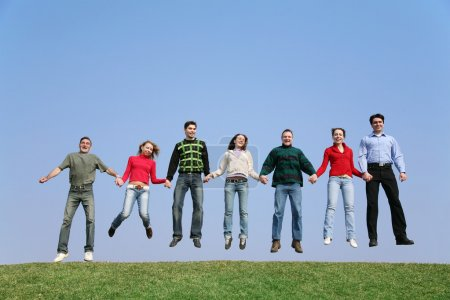 Photo for Jumping group - Royalty Free Image