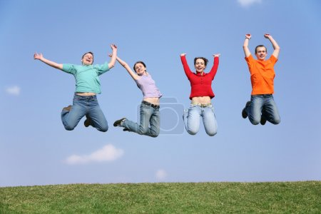 Photo for Jumping friends - Royalty Free Image