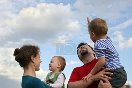 Family and sky