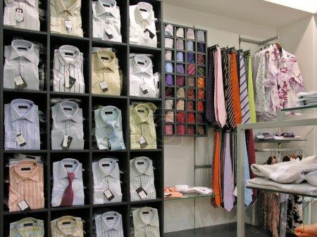 Chemises en magasin