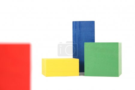 Photo for Wood toy blocks - Royalty Free Image
