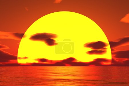Very big sun