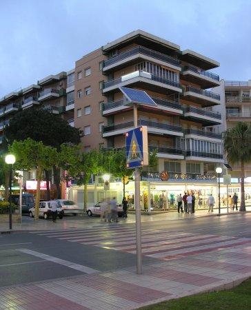 Evening crosswalk