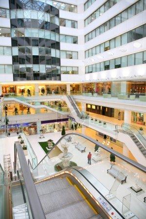 Shop interior escalator