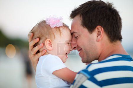 Photo for Portrait of happy father and his adorable little daughter - Royalty Free Image