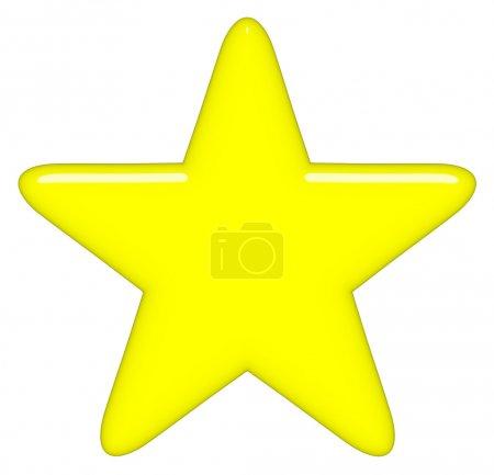 Foto de Estrella 3d aislada en blanco - Imagen libre de derechos
