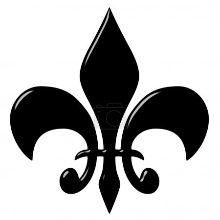 Photo for 3d fleur de lis isolated in white - Royalty Free Image