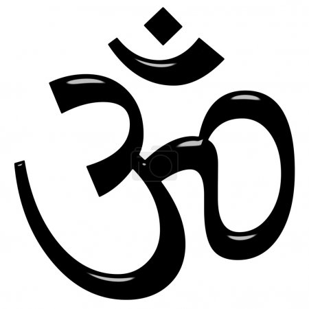 Photo for 3d Hinduism symbol isolated in white - Royalty Free Image