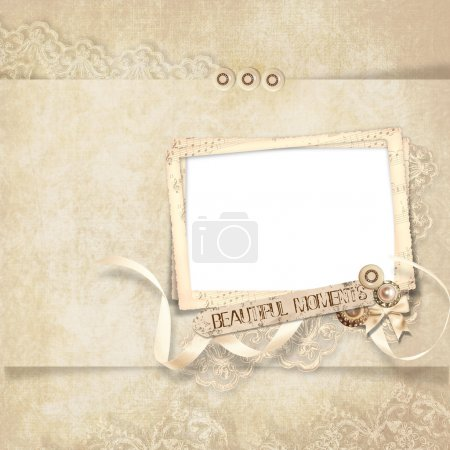Beauty frame on elegant vintage background