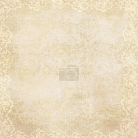 Photo for Vintage elegant background with lacy border - Royalty Free Image