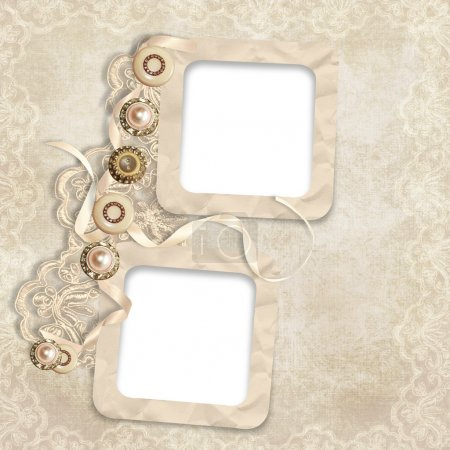 Old frame on elegant vintage background