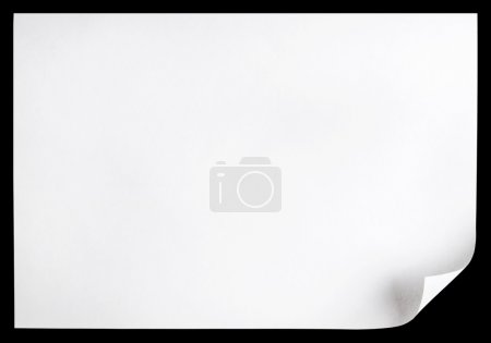 Photo pour Boucle de page blanche - image libre de droit