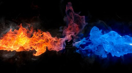 Photo for Red and blue fire - Royalty Free Image