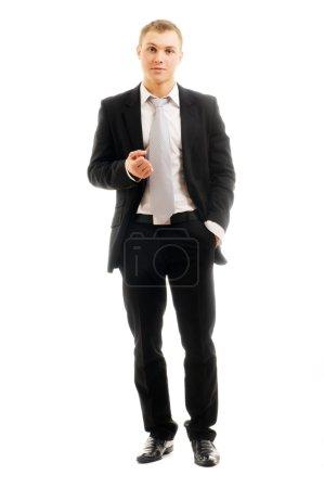 Photo pour Portrait d'un homme d'affaires isolé sur fond blanc - image libre de droit