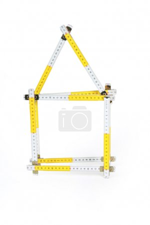 Photo for Close up of tape measure on white - Royalty Free Image