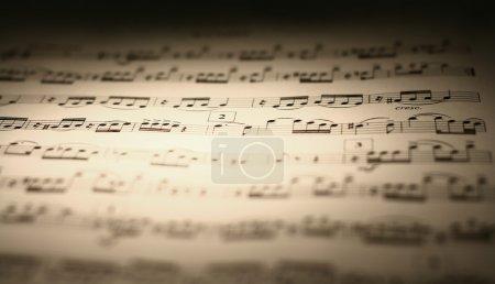 Photo pour Partition musicale - image libre de droit