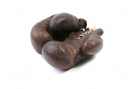Vintage brown boxing gloves
