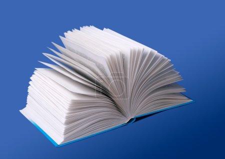 Photo pour Le livre ouvert isolé sur un fond - image libre de droit
