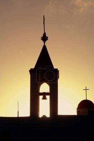 Sunset over the old Akko church